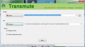 Transmute, interfejs programu