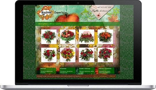 Realizacje: strona www kwiaciarni