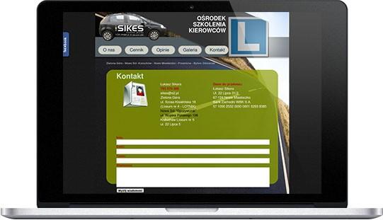 Realizacja: strona www ośrodka szkolenia kierowców
