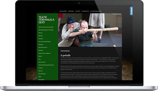 Realizacje: strona internetowa teatru